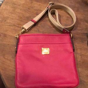 Ralph Lauren Pink Pebbled Leather Crossbody Purse